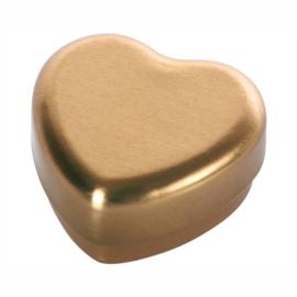 Maileg Klein Metalen Doosje Hartje Goud 'Small Heart Box'