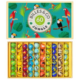 Billes & Co Knikkers in doosje, Jungle Box I, 60 stuks