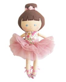 Alimrose Knuffelpop, Baby Ballerina Rose Garden, 25 cm