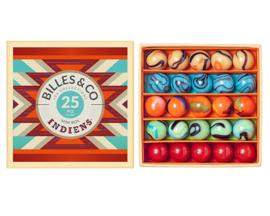 Billes & Co Knikkers in doosje, Mini Box Indiens/Navajo, 25 stuks