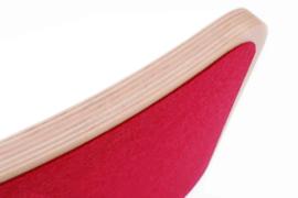 Wobbel original blank gelakt – vilt rood