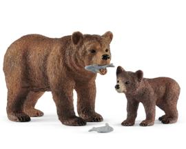 Schleich Grizzlybeer met Grizzlybeertje - 42473