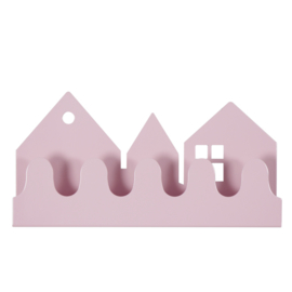 Roommate Village kapstok pastel roze 32 cm