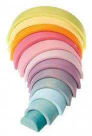 Grimm's houten Regenboog 12-delig, Pastel kleuren