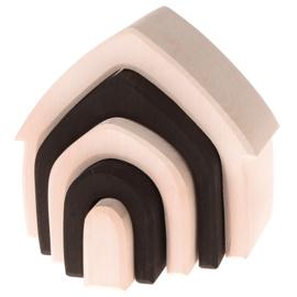 Grimm's houten Regenboog Huisje, Monochroom, 5-delig