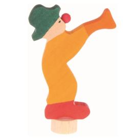 Grimm's Decoratiefiguur / Steker Clown met Trompet