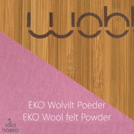 Wobbel original bamboe - vilt poeder roze