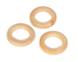 Grapat 3 houten Ringen, Naturel