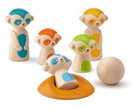 Plan Toys Kegelspel, Meerkat Bowling