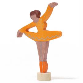 Grimm's Decoratiefiguur / Steker Ballerina, Oranje