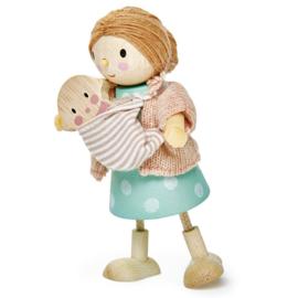 Poppenhuis Popje - Mevr. Goodwood met baby - Tender Leaf Toys