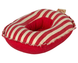 Maileg Rubber Boot voor kleine muizen, Rubber boat, Small mouse - Red stripe