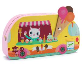 Djeco puzzel ijscowagen, 16 st, 25x25 cm
