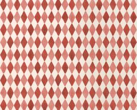 Maileg inpakpapier, Harlequin Red, 10 meter op rol