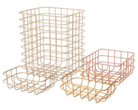 Maileg Set van 4 Metalen Opbergmanden, Storage baskets, nr.1