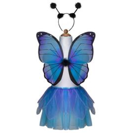 Vlindervleugels met tule rok en haarband, Nachtvlinder, 4-7 jaar