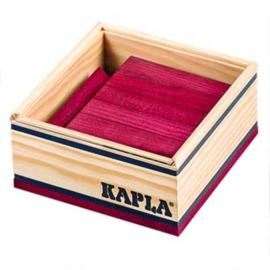 Kapla 40 plankjes in kistje, wijnrood