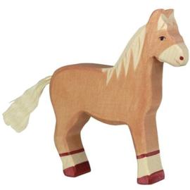 Holztiger Houten paard lichtbruin