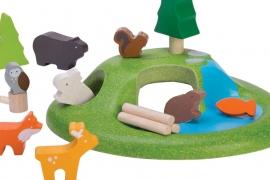 Plan Toys Houten Bosdieren 'Animal Set'