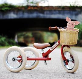 Trybike Rieten fietsmandje. Geschikt voor de 2-in-1 Steel modellen.