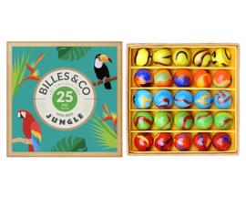 Billes & Co Knikkers in doosje, Mini Box Jungle, 25 stuks