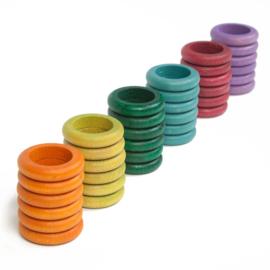 Grapat Ringen, 36 stuks, extra kleuren