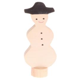 Grimm's Decoratiefiguur / Steker Sneeuwpop