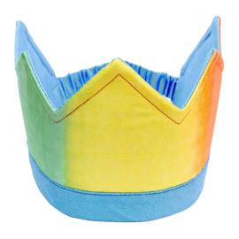 Sarah's Silks Zijden Kroon Omkeerbaar, Rainbow/Sky