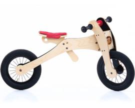 Trybike Wood 4-in-1 loopfiets Rood/Zwart