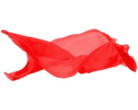 Sarah's Silks Speelzijde, Rood, 89 x 89 cm