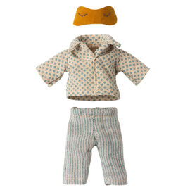 Maileg Pyjama met slaapmasker Oker - vader muis