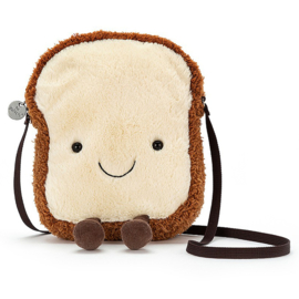Jellycat Toast Tasje, Amuseable Toast Bag, 19cm