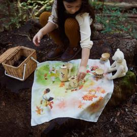 Sarah's Silks Speelzijde Doek, Illustrated Forest Fairy, 53 x 53 cm