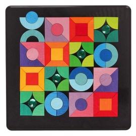 Grimm's Magneetpuzzel Basisvormen met glitterstenen