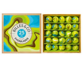 Billes & Co Knikkers in doosje, Uni Box Everglades, 25 stuks