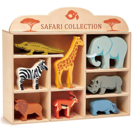 Safari Collection in houten kastje - Tender Leaf Toys