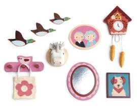 Poppenhuis Muurdecoratie - Tender Leaf Toys