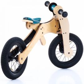 Trybike Wood 4-in-1 loopfiets Blauw/Zwart