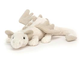 Jellycat Knuffel Draak, Snow Dragon Little, 26 cm