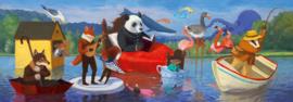 Djeco Puzzel 'Summer Lake', 350 st, 97x33 cm
