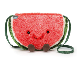 Jellycat Watermeloen Tasje, Amuseable Watermelon Bag, 21cm