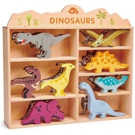 Dinosauriërs Collection in houten kastje - Tender Leaf Toys