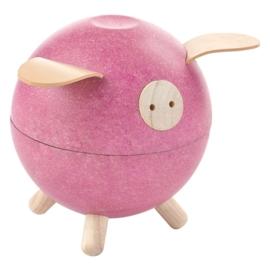 Plan Toys Spaarvarken, Piggy Bank, Rose