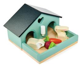 Poppenhuis Huisdierenset - Konijn  - Tender Leaf Toys