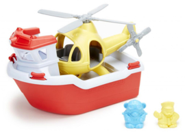 Green Toys Reddingsboot met helicopter Rescue Boat