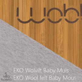 Wobbel original bamboe - vilt baby muis