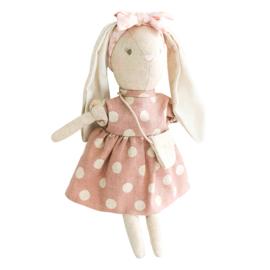 Alimrose Knuffel Konijn, Mini Sofia Bunny Mauve, 27 cm