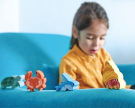 Zeedieren Collection in houten kastje - Tender Leaf Toys