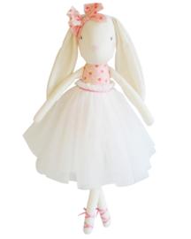 Alimrose Knuffel Konijn, Bronte Ballet Bunny - Pink & Ivory, 48 cm