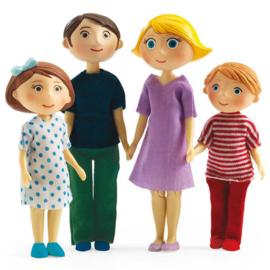 Djeco Poppenhuisfamilie, Gaspard & Romy